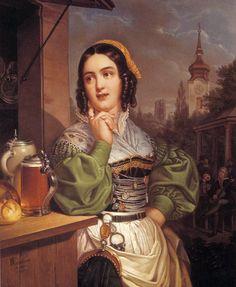 """""""Schönen Bogenhauserin"""" von Georg Wilhelm Wanderer (1803–1863)"""