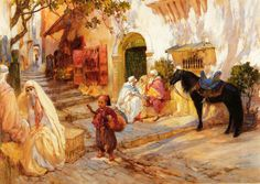An Algerian Street :: Frederick Arthur Bridgman - scenes of Oriental life (Orientalism) in art and painting Old Master, Baron, Art Reproductions, American Artists, Unique Art, Art History, Buy Art, Oil On Canvas, Paintings