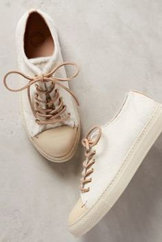 a7a77ee39a1e Buttero Prego Lace-Ups White Wedges Sneakers Fashion