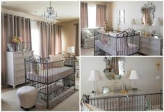 swoon worthy! this gorgeous nursery was sent in by new mommy, Susan Staiert, and designed by her talented hubby. inspiration: the room was designed around the crib and the fabrics