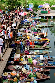 Floating market, Thailand. I loved visiting here. What fun and great food!