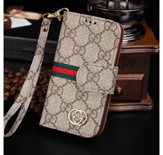 New Arrival Real Gucci iPhone 6 Cases - iPhone 6 Plus Cases - Leather Wallet Cover Brown - Free Shipping - Chanel & Louis Vuitton Authorized Store