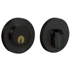 """Baldwin 8244 Contemporary Style Deadbolt for 2-1/8"""" Door Prep"""