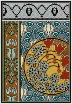 Floral Cross Stitch Pattern Nasturtiums No. 2  PDF door Whoopicat