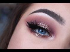 Rose gold makeup look - YouTube