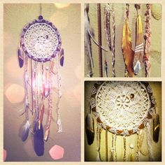 diy dream catchers - so beautiful, would be fun for a girlie craft party!