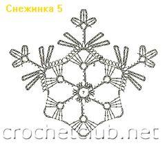Free Snowflake Crochet Diagram