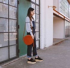 the Union crossbody // crafted in suede and vachetta hide // featuring @thedailyglance