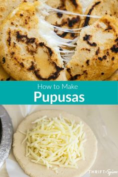 Mexican Food Recipes 48757 Pupusas are a delicious and easy dish that comes from El Salvador. They can be filled with a variety of ingredients such as cheese, beans and pork meat. They're great for breakfast, lunch or dinner! Authentic Mexican Recipes, Italian Recipes, Easy Mexican Dishes, Mexican Sweet Breads, Mexican Bread, Papusa Recipe, Cooking Recipes, Healthy Recipes, Gastronomia