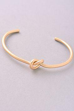 Dainty Knot Cuff Bracelet Gold/ Silver by AMOXTLILA on Etsy (Celine inspired)
