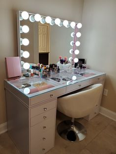 SlayStation® Pro Tabletop + Vanity Mirror + 5 Drawer Units Bundle (Pre-order Bright White Now. Expected ship date: June - Impressions Vanity Co. Tabletop Vanity Mirror, Makeup Table Vanity, Makeup Vanity In Bedroom, Desk With Mirror, Makeup Vanity Organization, Wooden Makeup Vanity, Makeup Vanity With Drawers, White Makeup Vanity, Mirrored Vanity Table