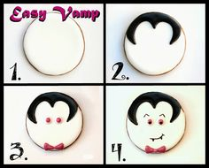 Vampire #Halloween Cookies By @Lila Symons Symons Symons Symons Loa Via #TheCookieCutterCompany