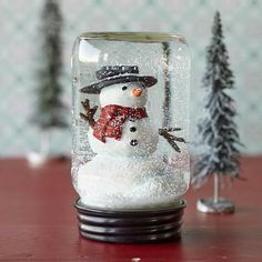 Cute Mason Jar Snowglobe from Sundance.