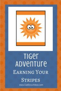 Learn more about the Tiger Cub Scout adventure, Earning Your Stripes.