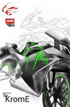 Pintura para Fran. Aprilia Rs 50 2t. Sketchbook mobile