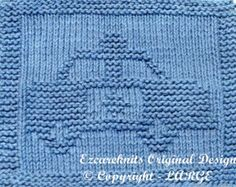 Large Knitting Cloth Pattern - POLICE CAR - PDF