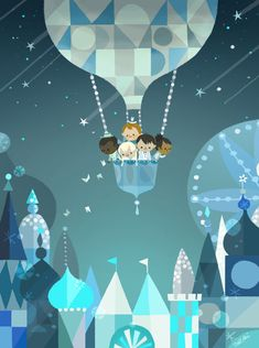 It's a Small World celebration by Joey Chou - Mary Blair inspired