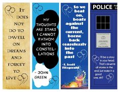 """Bookmarks to make of some of my favorite quotes. :)    """"My thoughts are stars I cannot fathom into constellations."""" - John Green """"The Fault in our Stars"""" I'll be a story in your head..."""""""