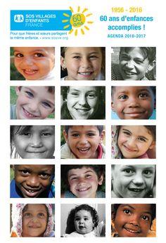 Commandez l'agenda solidaire 2016-2017 de SOS Villages d'Enfants. A l'occasion des 60 ans de l'association, retrouvez l'histoire de SOS Villages d'Enfants.