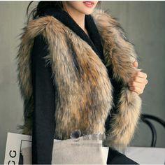 Find More Fur & Faux Fur Information about cheap 2014 winter women faux fur vest imitated fake fur jacket coat woman vest clothes S M L XL XXL free shipping ,High Quality Fur & Faux Fur from pure color on Aliexpress.com