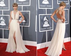 Taylor Swift at the Grammy's. She looked really pretty. Loved her hair!