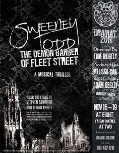 Sweeney Todd - #broadway #musicals #stephensondheim -- I wonder what would happen if Sonddheim and Sorkin got together?