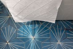 Blue and white Moroccan Tiles from Claesson Kovisto Rune in Master Bathroom of Murnane House in Los Angeles by Project M Plus | RemodelistaMurnane House in Los Angeles by Project M Plus | Remodelista
