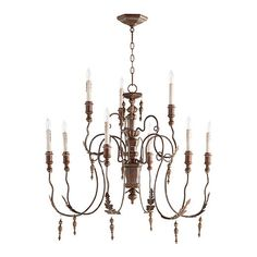 Features:  -Salento collection.  -Finish: Vintage Copper.  -Number of lights: 9.  -Max wattage: 60.  -Socket: Candelabra.  -UL type: Dry.  Product Type: -Candle-Style chandelier.  Finish: -Vintage Cop