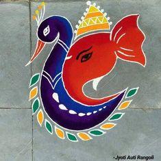 Rangoli Designs Simple Diwali, Rangoli Simple, Indian Rangoli Designs, Rangoli Designs Latest, Rangoli Designs Flower, Free Hand Rangoli Design, Rangoli Border Designs, Colorful Rangoli Designs, Rangoli Ideas