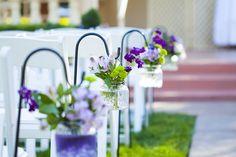 Wedding Ceremony Decor | Purple Wedding Colors