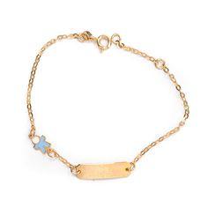 Παιδικό  βραχιόλι ταυτότητα  χρυσό Κ14  1459 Jewels, Bracelets, Gold, Bangles, Jewelery, Gems, Bracelet, Jewerly, Jewelry