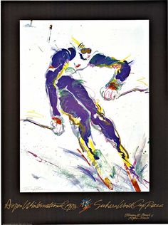 Aspen Winternational original 1983, Terry Rose, ski poster.   www.TheVintagePoster.com