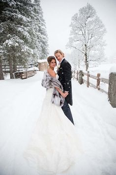 I cant decide if I want a winter wedding... Or a summer wedding. This winter picture looks beautiful.