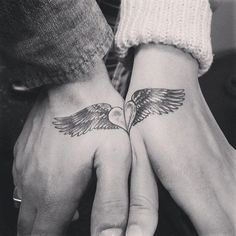 Few things are forever: Diamonds, Love, and Tattoos. When a diamond just isn't enough, some couples will use ink to signify their eternalness. Below, are ten of the best examples of couple tatoos!
