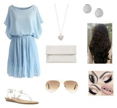 Cute Girly Look by xxitsjennyxx on Polyvore featuring polyvore, fashion, style, Chicwish, Blowfish, Whistles, Accessorize, Ray-Ban, clothing and girly
