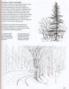 Tree drawing tutorial.