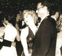 Marilyn and Arthur Miller dancing at the Waldorf Astoria Hotel, NYC, following the premiere of Baby Doll, December 18, 1956.