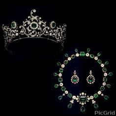 "Royal Tiara Challenge 2017""Day 3: Favorite Emerald Tiara Duchess of Devenshire's Emerald Parure This tiara once belonged to the Duchess of Devenshire, but was sold in Thailand a few years ago. I just..."
