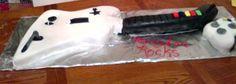 My Fondant Cake for my sons Birthday. Actual size of guitar hero. 12th Birthday, Fondant, Sons, Guitar, Hero, Cake, Kuchen, My Son, Gum Paste