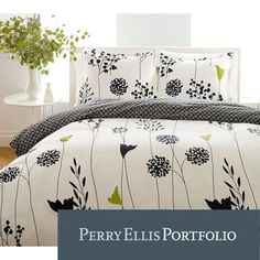@Overstock - Add elegant style to your bedroom décor with this three-piece cotton comforter set by Perry Ellis. Made of 100 percent cotton, this machine-washable comforter set features a contemporary Asian lily design with a reverse pompom pattern.http://www.overstock.com/Bedding-Bath/Perry-Ellis-Asian-Lilly-3-Piece-Comforter-Set/4998979/product.html?CID=214117 $73.99