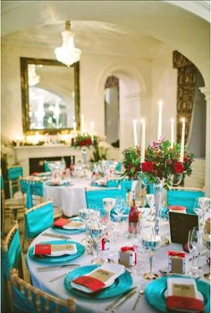 Venue Styling - Table Styling Ideas - Bright - Colour Schemes - Colourful Crockery - Glassware
