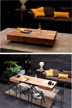 The Cristallo Table From Resource Furniture Transforms A Coffee To Dining In One Simple Motion