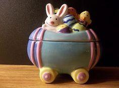 Cute ceramic easter hallmark gourmet gifts teddy bear mug hidden ceramic easter bunny hallmark gourmet gift box negle Gallery