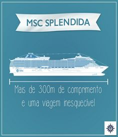 O #MSCSplendida foi construído em 2009 e faz parte da classe Fantasia. Tem capacidade para mais de 4 mil hóspedes e 1.700 cabines.