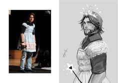 Why was he in a dress in the first place!!??     BECAUSE HES MATHEW MERCER AHAHA
