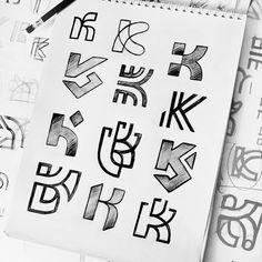 Monogram (K) logo sketches for Kaiser created by Use hashtag to showcase your work. K Logos, Typography Logo, Logo Branding, Branding Design, Graphic Design Lessons, Logo Sketches, Makeup Artist Logo, Online Logo, Great Logos