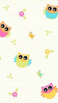 Wallpaper Cellphone Wallpaper, Mobile Wallpaper, Wallpaper Backgrounds, Iphone Wallpaper, Cute Owls Wallpaper, Hello Kitty Wallpaper, Beautiful Wallpapers For Iphone, Cute Wallpapers, Owl Clip Art