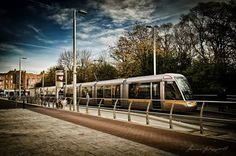 The Luas - a tram or light rail system serving Dublin, the first such system in the decades since the closure of the last of the Dublin tramways. Light Rail, Buses, Trains, Irish, Closure, City, The Moon, Irish Language, Ireland