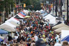 The Locke Street Festival and Member Appreciation Night Hamilton Ontario, Wonderful Places, Appreciation, Times Square, Night, Street, City, Travel, Spaces