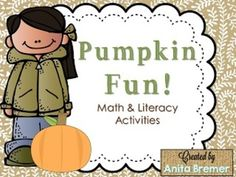 Pumpkin Fun! {Math and Literacy Activities} Tons of activities using pumpkins {both paper and real} as learning tools.